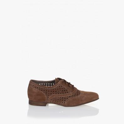 Дамски обувки Елизабет естествен велур