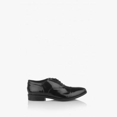 Мъжки официални обувки в черно Фабианно