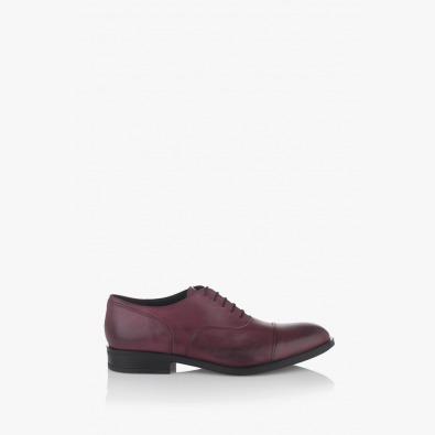 Кожени мъжки обувки в бордо Фабианно