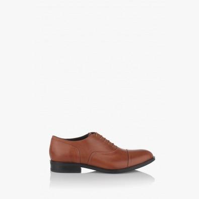 Мъжки кожени обувки с връзки Фабионно
