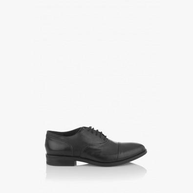 Черни мъжки класически обувки Фабианно