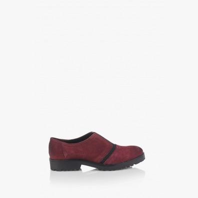 Дамски велурени обувки в бордо Грейс
