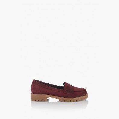 Дамски велурени обувки в бордо Сидни