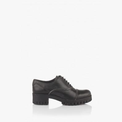 Дамски обувки с аксесоар Зип в черно