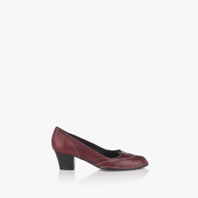 Дамски кожени обувки в бордо Флавия
