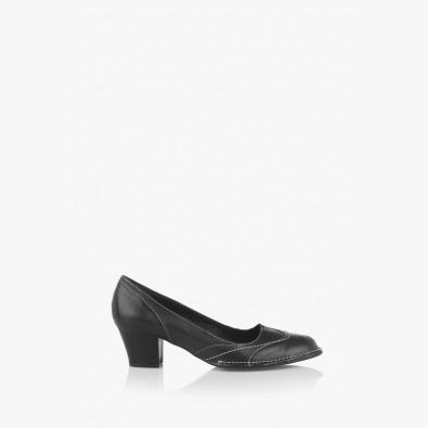 Дамски кожени черни обувки Флавия