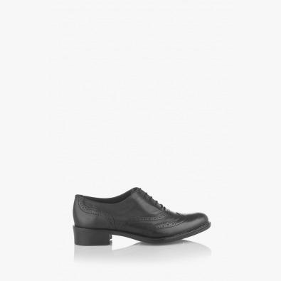 Черни дамски обувки с връзки Силвана