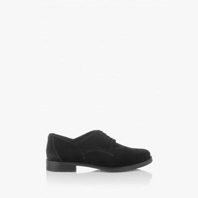 Дамски обувки с връзки в черно Шантел