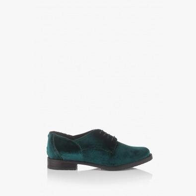 Зелени дамски обувки Шантел