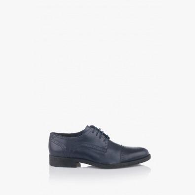 Мъжки сини обувки с връзки Патрик