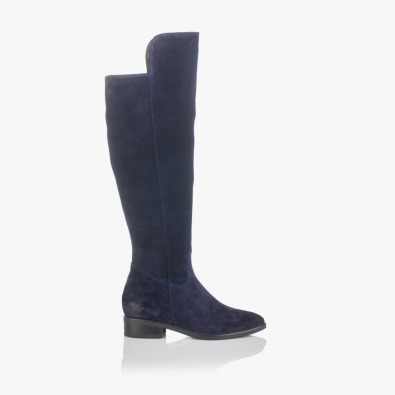 Дамски сини велурени чизми София