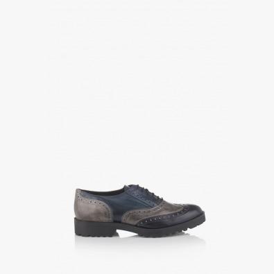 Дамски есенни обувки в синьо и сиво Дебора