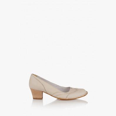 Дамски кожени обувки Флавия цвят айс