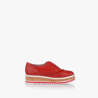 Червени дамски обувки с перфорация Дани