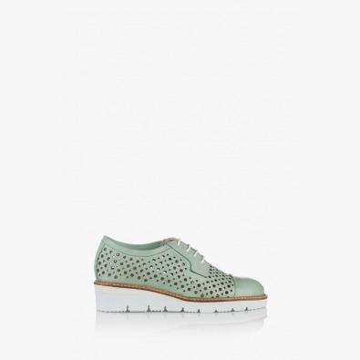 Зелени дамски обувки с перфорация Санта