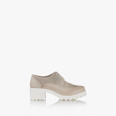 Дамски ежедневни обувки в сиво с връзки Джули