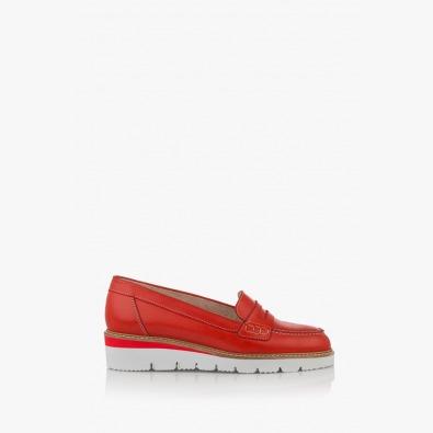 Дамски ежедневни обувки в червено Колет