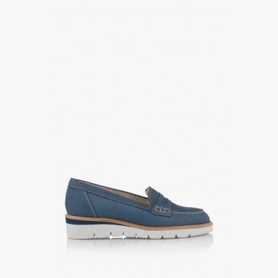 Сини дамски обувки с равно ходило Колет