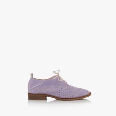 Лилави перфорирани дамски обувки Мини