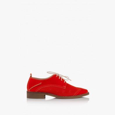 Дамски перфорирани обувки с връзки Мини