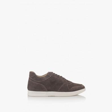 Сиви мъжки велурени обувки Джинико