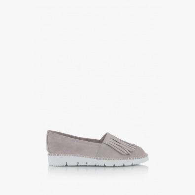 Сиви дамски велурени обувки Джери