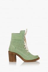 Зелени дамски велурени боти Абелла