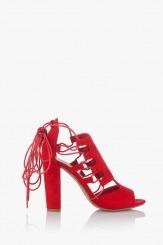 Дамски сандали в червено Кики