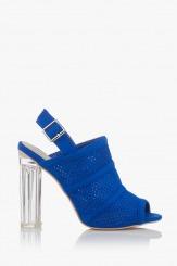 Сини дамски сандали в син цвят Катлин