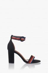 Дамски сандали на висок ток Габи в черно