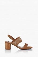 Дамски сандали цвят карамел Хелен