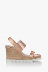 Дамски сандали с платформа в розово злато Джоли