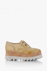 Дамски обувки на платформа в жълто Алисан