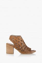 Дамски сандали цвят карамел Бранди от кожа