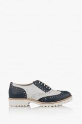 Дамски ежедневни обувки в синьо и айс Лиса