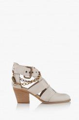 Дамски сандали на ток с аксесоар Амбар