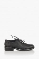 Черни дамски обувки с щампа Сиа