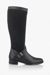 Черни дамски ботуши в черно Естела