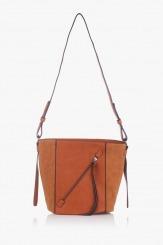 Дамска чанта през рамо Стейси карамел