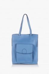Дамска чанта в светло синьо Прешъс