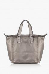 Дамска чанта в сребристо Сюзън