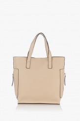 Дамска чанта в бежов цвят Нанси
