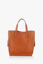 Дамска чанта цвят карамел Нанси