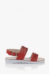 Червени дамски сандали Ева
