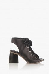 Черни дамски летни сандали с връзки Рейн