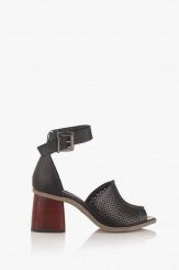 Черни дамски сандали с перфорация Сторми