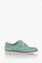 Зелени дамски летни обувки Адина