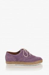 Велурени дамски обувки в лилаво Анабел