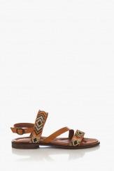 Дамски сандали с каишки и мъниста Монни