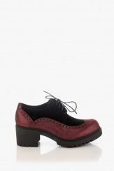 Дамски обувки велур и кожа Тереса